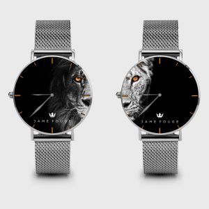 Metal Watch Animal Love Dame Rouge