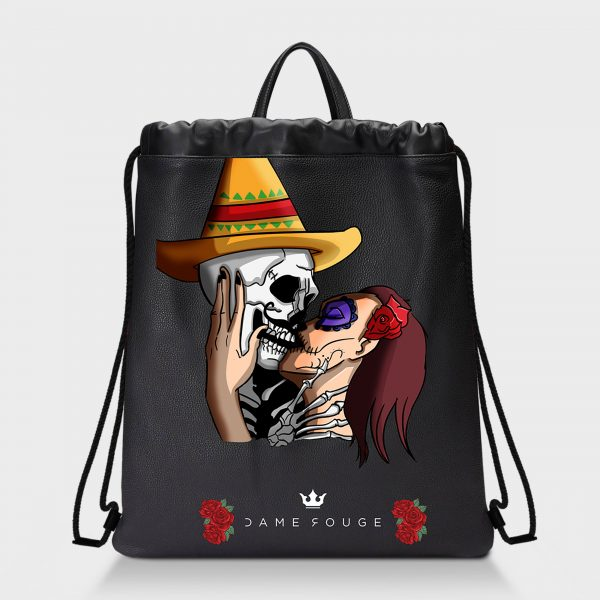 Zaino Squeeze Mexican Skull Dame Rouge