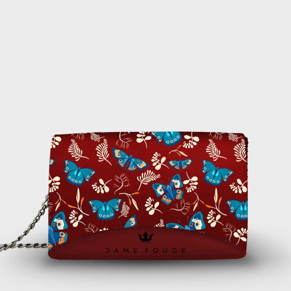 Moon Bag Blue Butterfly Dame Rouge