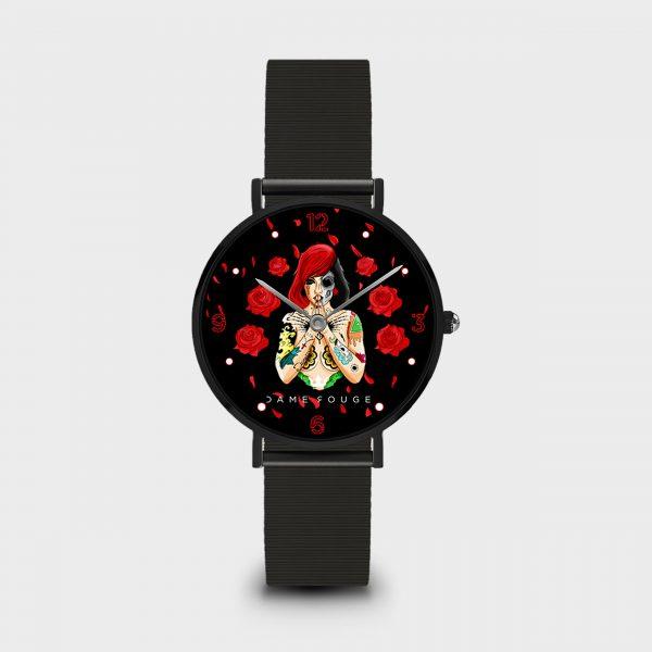 Orologio Skull Flower Dame Rouge