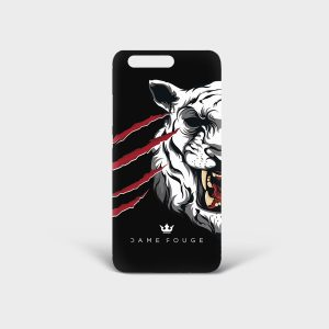 Cover Huawei Tiger Scratches Dame Rouge
