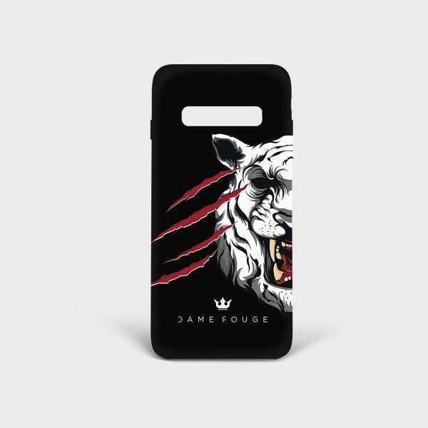 Cover Samsung Tiger Scratches Dame Rouge