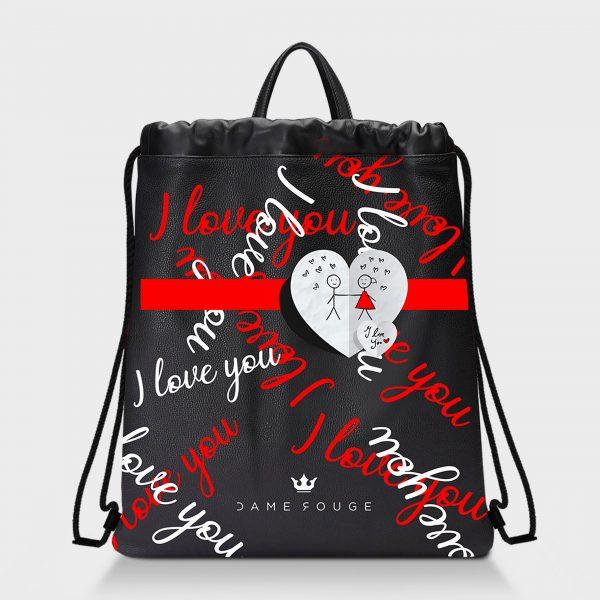 Zaino Squeeze I Love You Dame Rouge