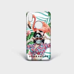 Cover Iphone Pin Up Skull Dame Rouge