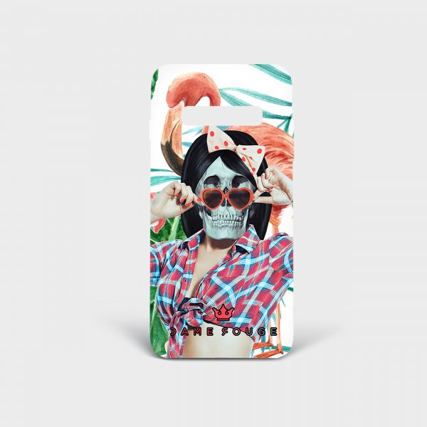 Cover Samsung Pin Up Skull Dame Rouge