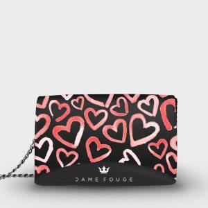 Moon Bag Heart Rose Dame Rouge