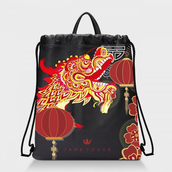Zaino Squeeze Asian Dragon Dame Rouge