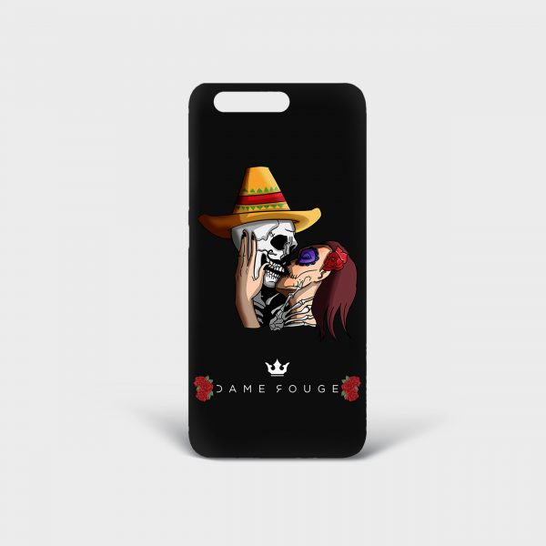 Cover Huawei Mexican Skull Dame Rouge