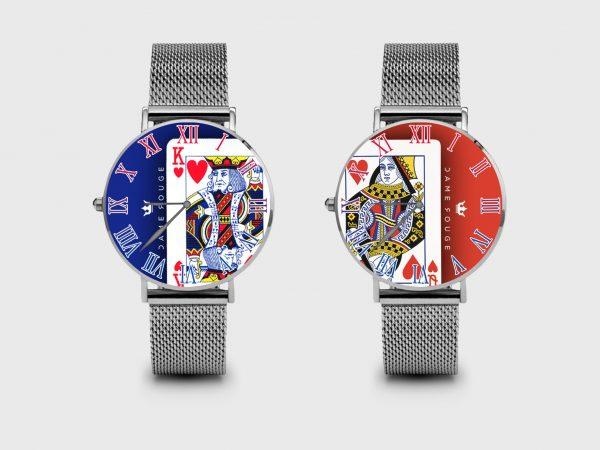 Metal Watch Love K Love Dame Rouge