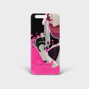Cover Huawei Pink Shot Dame Rouge