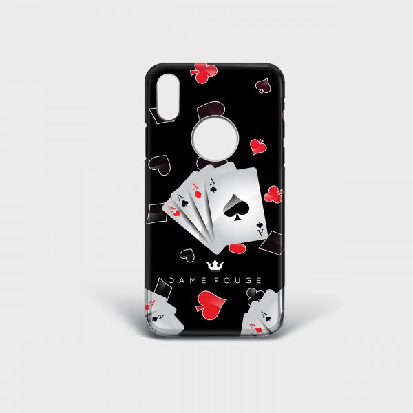 Cover Iphone Poker Face Dame Rouge