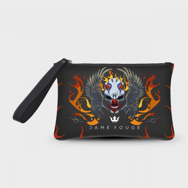 Pochette Smart Fire Skull Dame Rouge