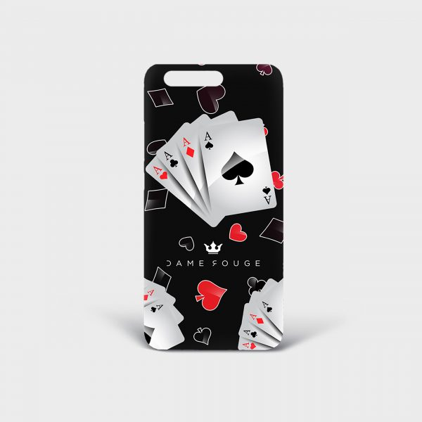 Cover Huawei Poker FaceDame Rouge