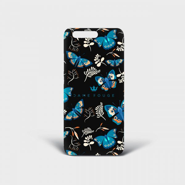 Cover Huawei Blue Butterfly Dame Rouge