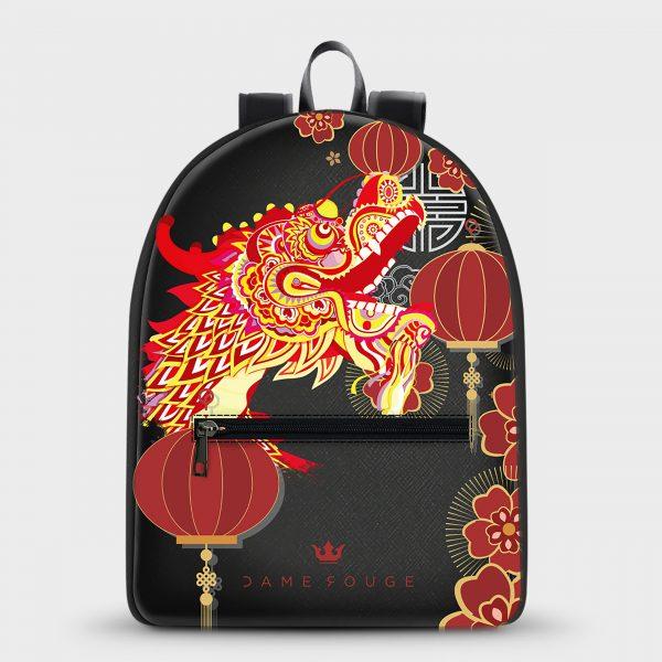 Zaino Maxime Asian Dragon Dame Rouge