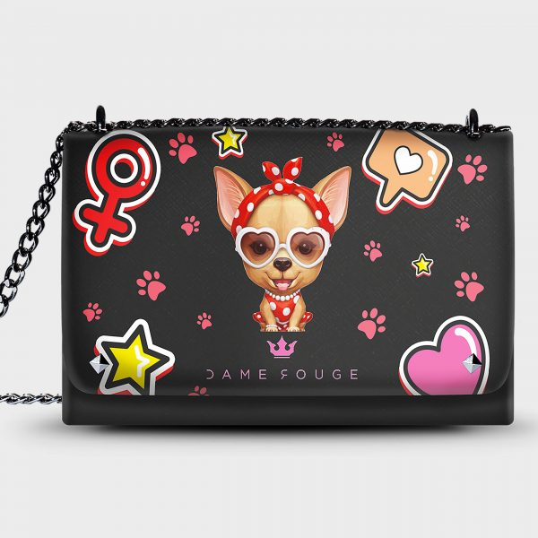 Lovely Bag Chihuahua Dame Rouge