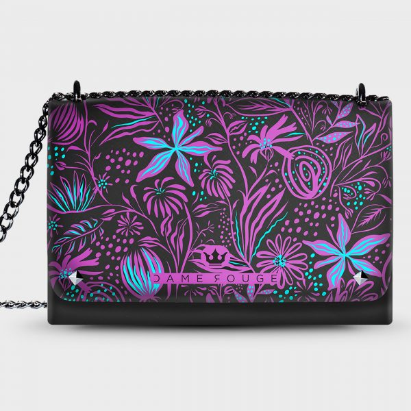 Lovely Bag Flower Violet Dame Rouge