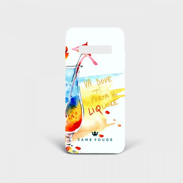 Cover Samsung Funny Drink Dame Rouge