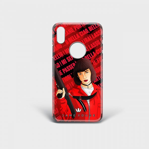 Cover Iphone Bella Ciao! Donna Dame Rouge