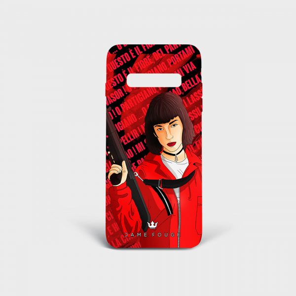 Cover Samsung Bella Ciao Donna Dame Rouge