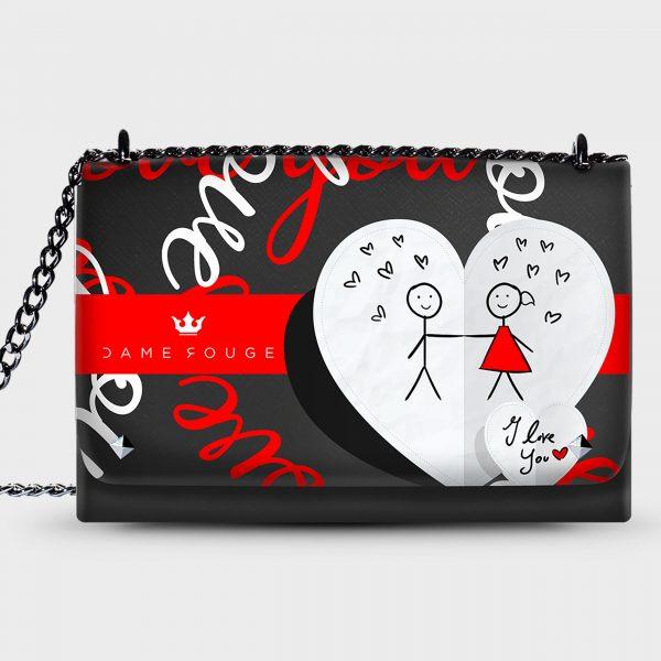 Lovely Bag I Love You Dame Rouge