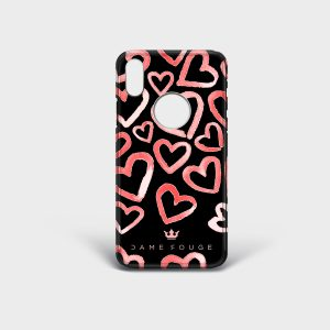 Cover Iphone Heart Rose Dame Rouge