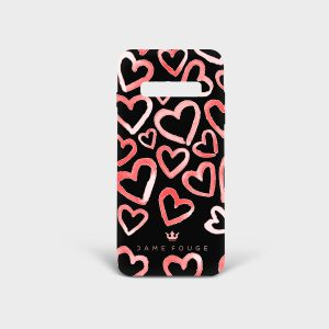 Cover Samsung Heart Rose Dame Rouge