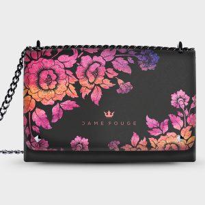 Lovely Bag Violet Roses Noir Dame Rouge