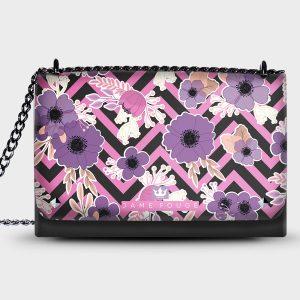 Lovely Bag Floral Noir Dame Rouge