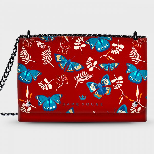 Lovely Bag Blue Butterfly Dame Rouge