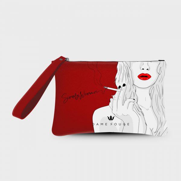 Pochette Smash Simply Woman Dame Rouge