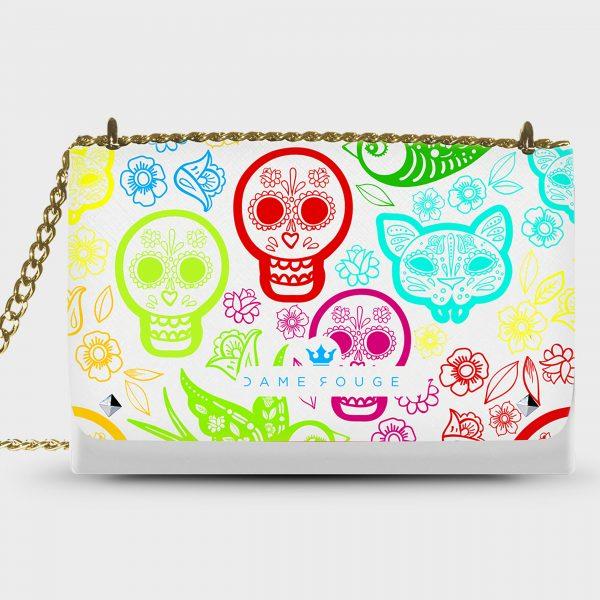 Lovely Bag Skull&Bird Dame Rouge