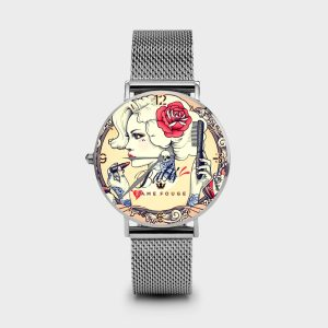 Metal Watch Emis Dame Rouge