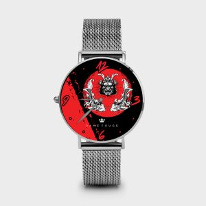 Metal Watch Samurai DemonDame Rouge