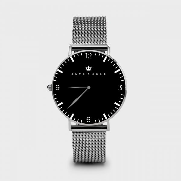 Metal Watch Black Classic Dame Rouge