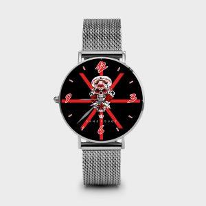 Metal Watch Teschio Dame Rouge