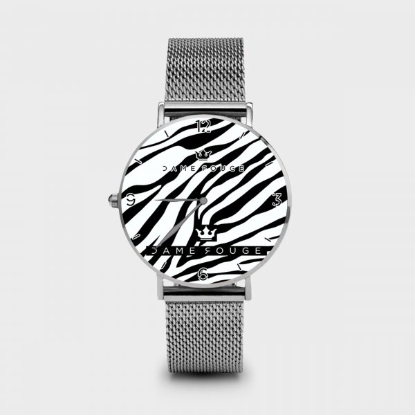 Metal Watch Zebrato Dame Rouge
