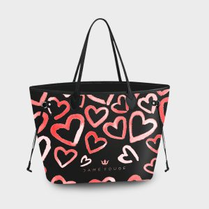 Princess Bag Heart Rose Dame Rouge