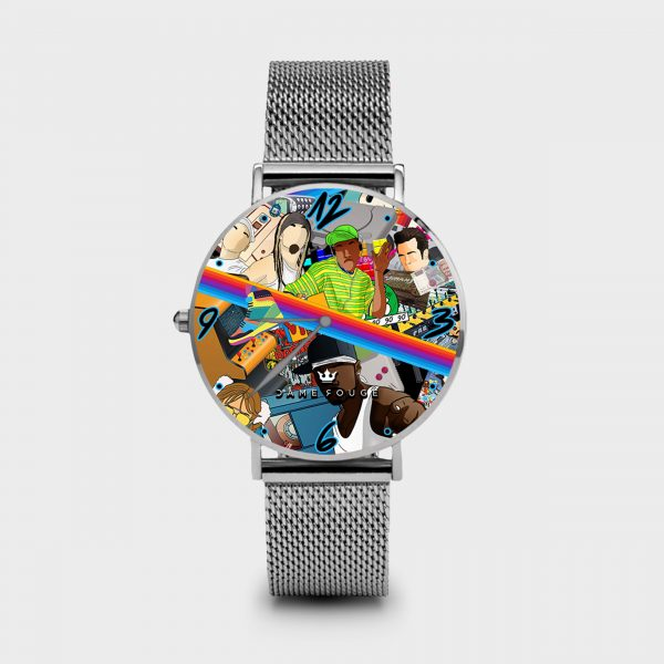 Metal Watch 90s Dame Rouge