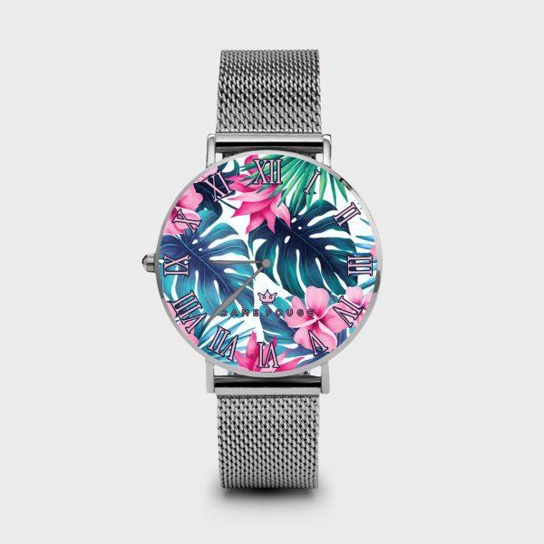 Metal Watch Tropical Dame Rouge
