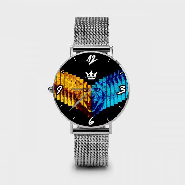 Metal Watch Cheetah Dame Rouge
