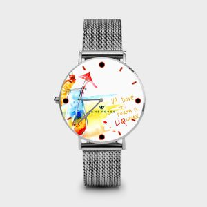 Metal Watch Funny Drink Dame Rouge