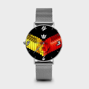 Metal Watch Pitbull Dame Rouge