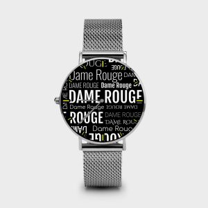 Metal Watch Multi Dame Dame Rouge