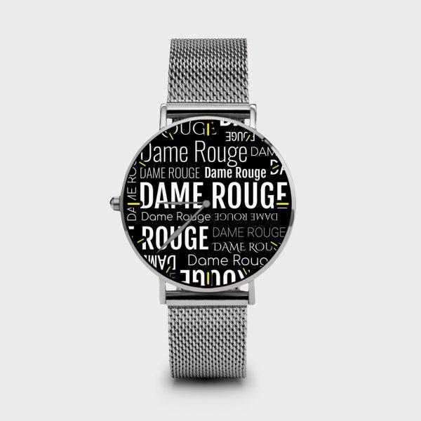 Metal Watch Multi Dame Dame Rouge