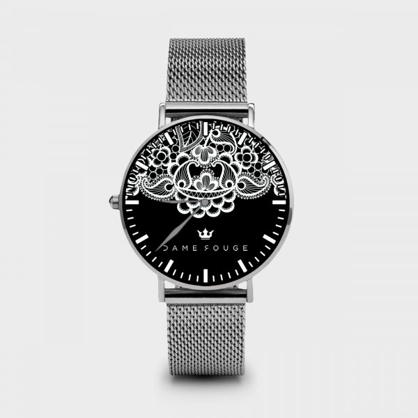 Metal Watch Lace Dame Rouge