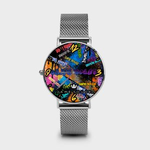 Metal Watch Graffiti Dame Rouge