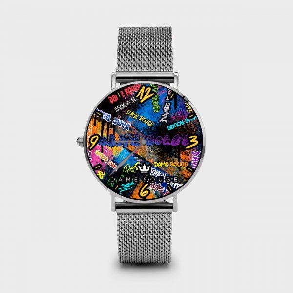 Metal Watch Graffiti Dame Rouge