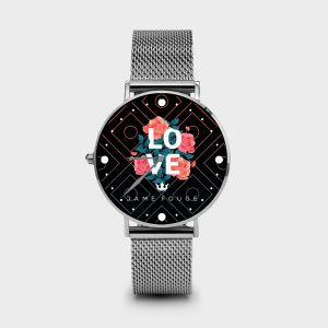 Metal Watch Spring Love Dame Rouge