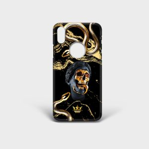 Cover Iphone Golden Death Dame Rouge